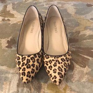 Ellen Tracy Kitten Heel Leopard Pumps